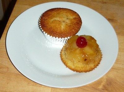 Pineapple Upside down Butter Cupcake