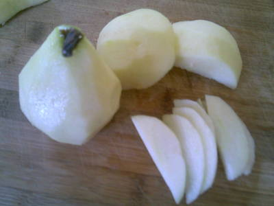 Peeled Apple and Pear