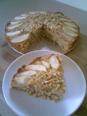 Apple and Pear Crumble Cake