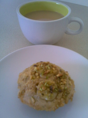 Banana and Pistachio Nut Muffin