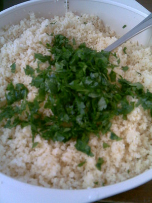 Parsley chopped into small pieces.