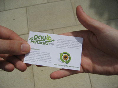 Pay It Forward card