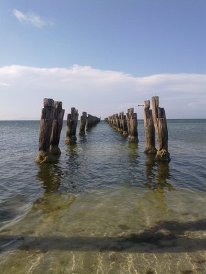 The old, dissasembled jetty
