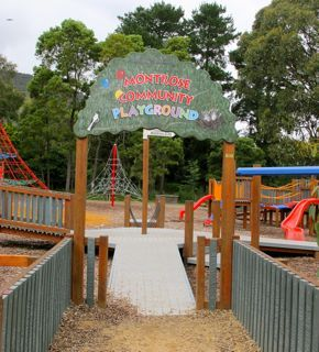 Entry to the playground