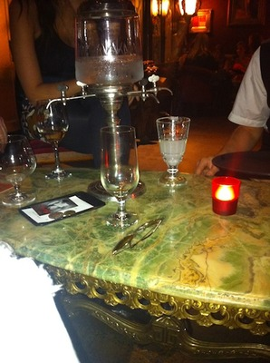 Traditonally served Absinthe at Polly