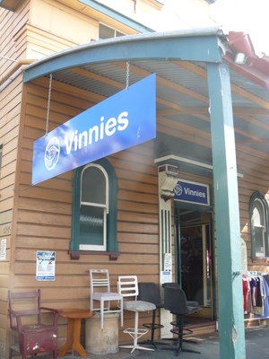 Vinnie's shopfront @ Paddington