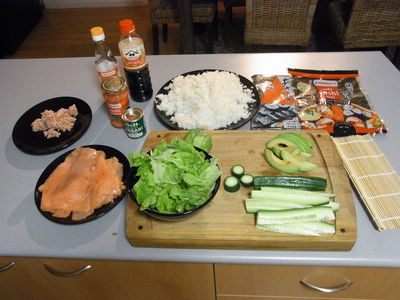 Everything you need to make your sushi at home.
