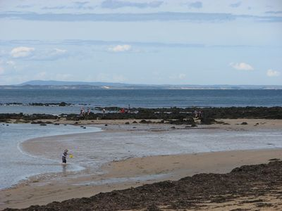 rock pooling at low tide