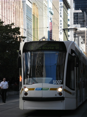96 Tram on Bourke St