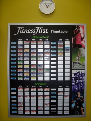 Fitness First timetable