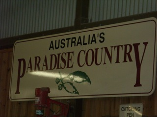 Paradise Country sign