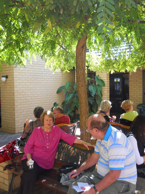 South Perth Bridge Club has shady alfresco areas