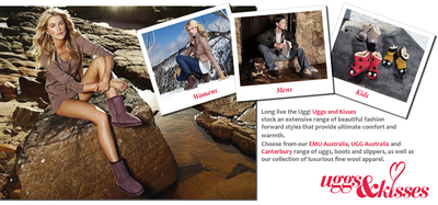 Uggs & Kisses has a range of top quality products for men, women and kids.