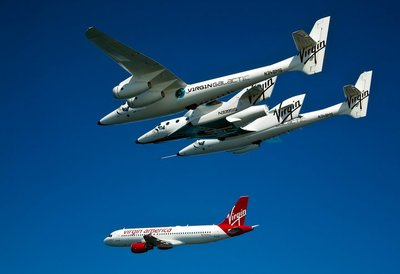 Virgin Galactic alongside Virgin America.
