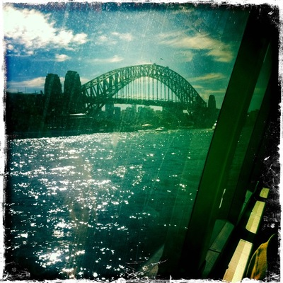 The view from the ferry, using Hipstamatic on the iPhone