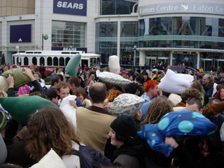 World Pillow Fight Day Flash Mob