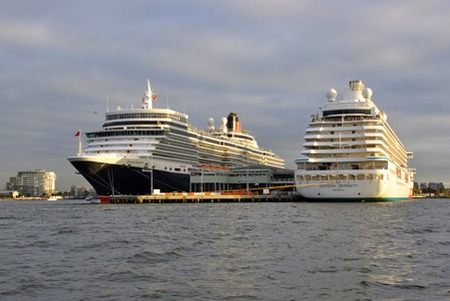 Cruise Ships At Station Pier Melbourne By Ian Gill