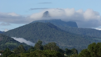Wollumbin, also known as Mount Warning
